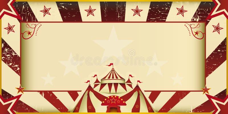 De fantastische uitnodiging van het grungecircus vector illustratie