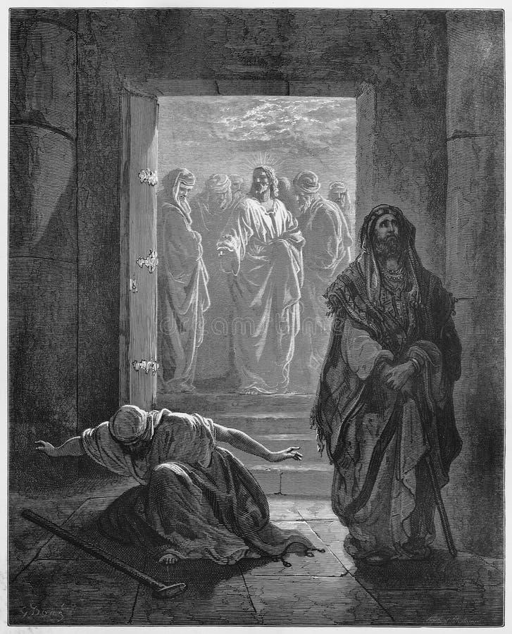 De Farizeeër en Publican royalty-vrije illustratie