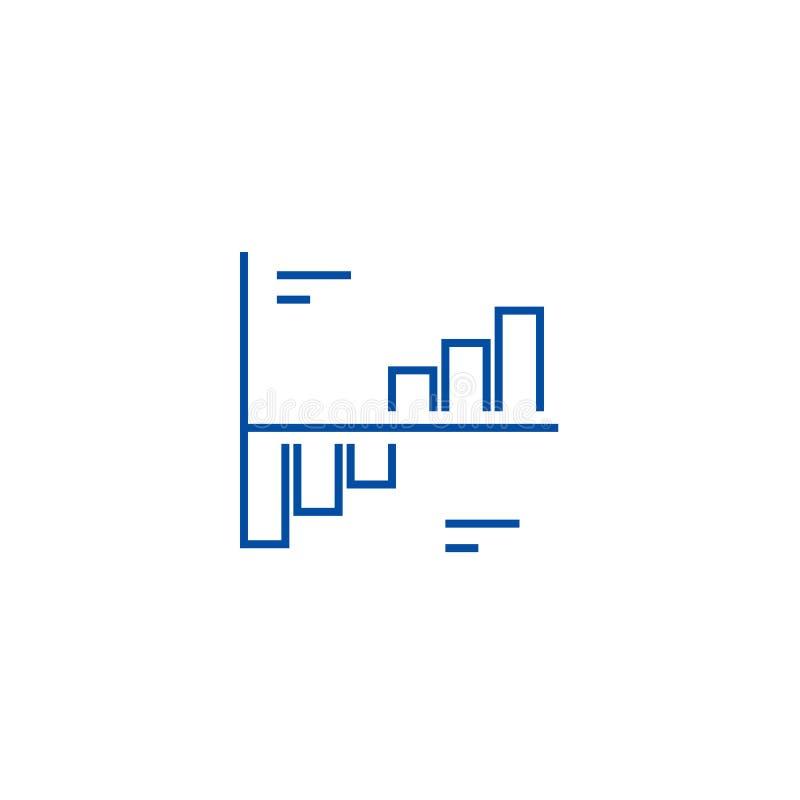 De fase brengt het concept van het lijnpictogram in kaart De fase brengt vlak vectorsymbool, teken, overzichtsillustratie in kaar royalty-vrije illustratie