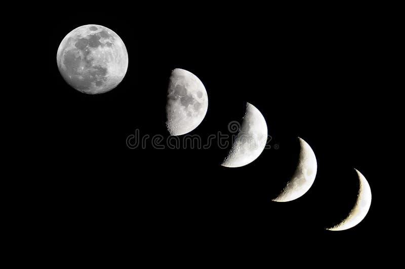 De fase van de maan royalty-vrije stock foto