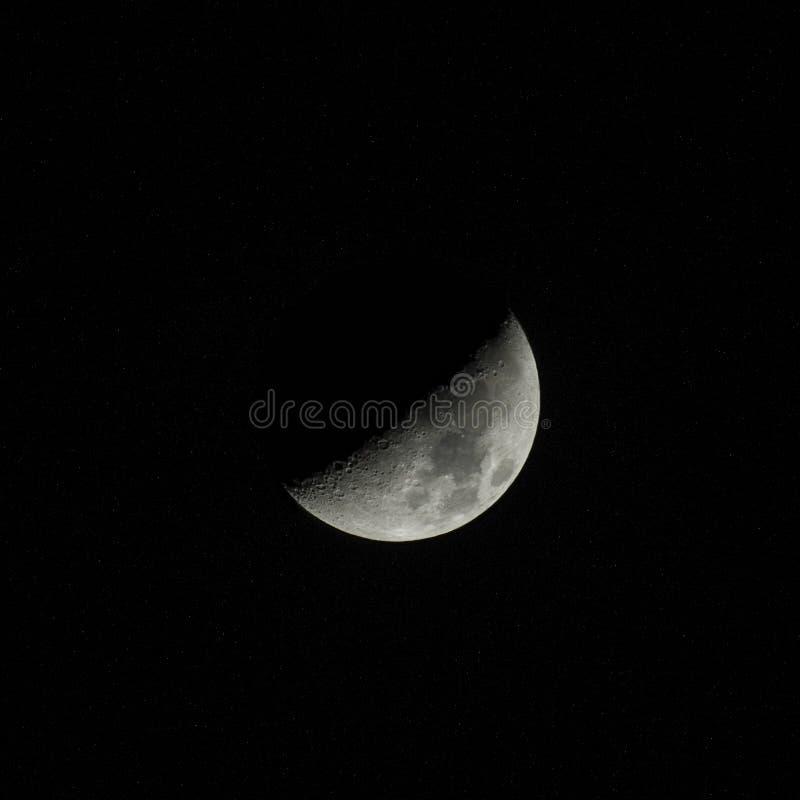 De fase van de maan stock foto's