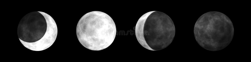 De Fasen van de maan vector illustratie