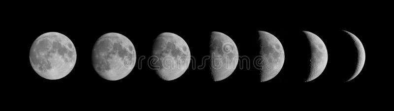 De fasen van de maan royalty-vrije stock afbeelding