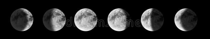 De fasen van de maan stock illustratie