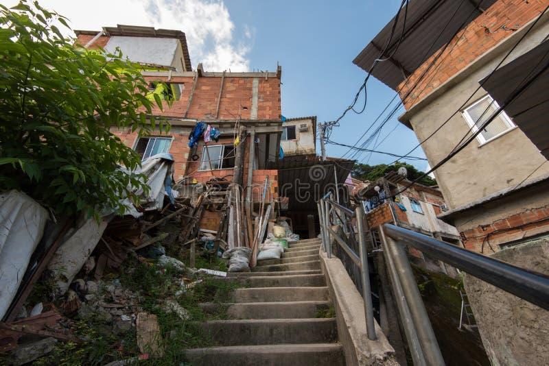 de favela janeiro rio royaltyfri bild