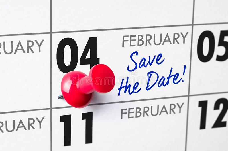 4 de febrero imagenes de archivo
