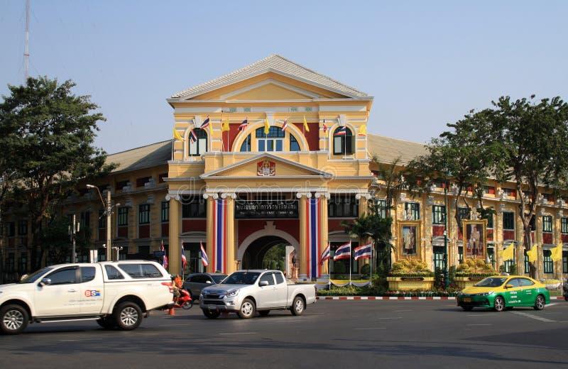 7 de febrero de 2019, Bangkok Tailandia El edificio del comando territorial de la defensa fotografía de archivo