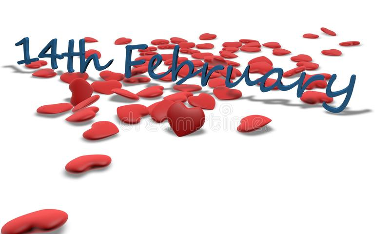 14 de febrero Día del `s de la tarjeta del día de San Valentín libre illustration