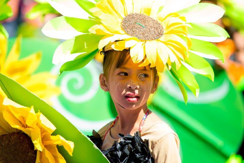 27 de febrero de 2015 Baguio, Filipinas Baguio Citys Panagbenga F imágenes de archivo libres de regalías