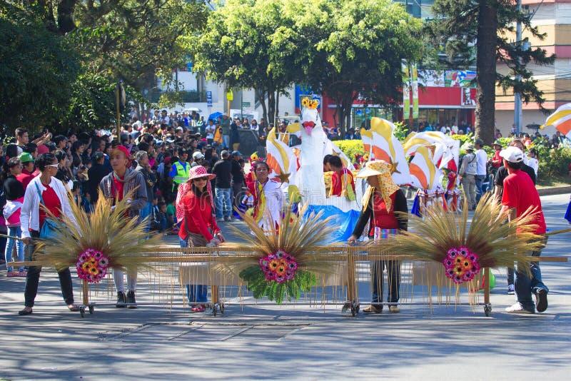 27 de febrero de 2015 Baguio, Filipinas Festival de la flor de Baguio Citys Panagbenga imágenes de archivo libres de regalías