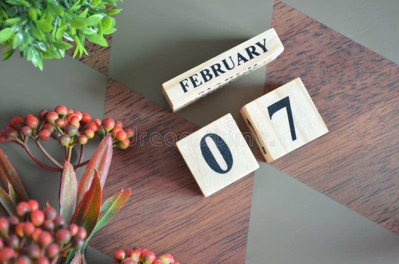 7 de febrero para el fondo fotos de archivo libres de regalías