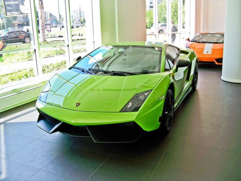 17 de febrero de 2011 Ucrania, Kiev Lamborghini Gallardo LP 570-4 Superleggera fotos de archivo libres de regalías