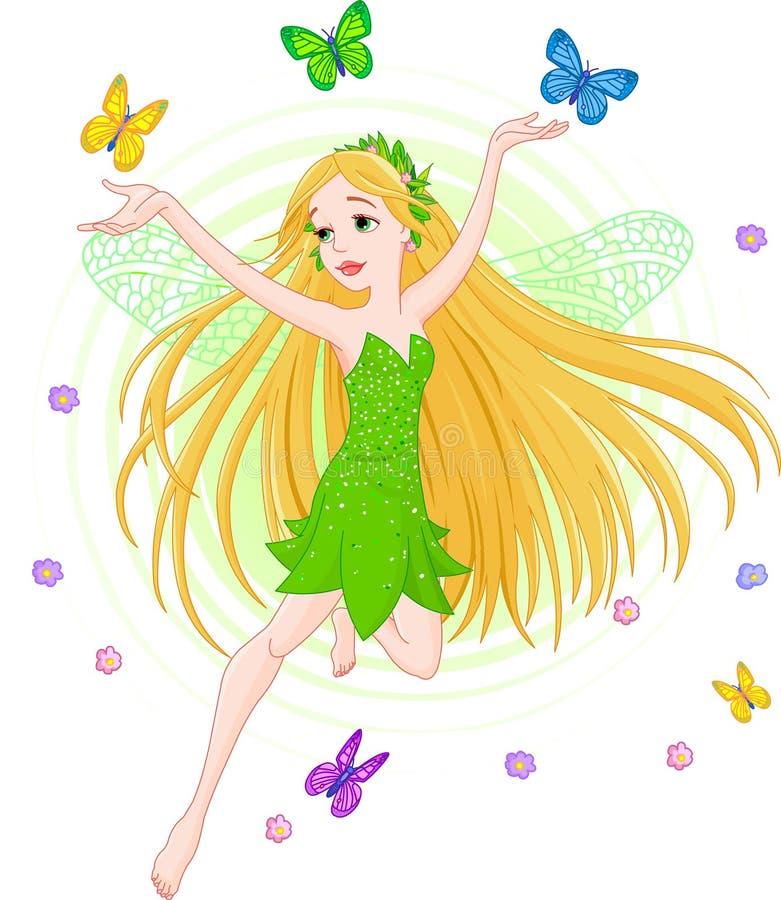 De fee van de lente vector illustratie