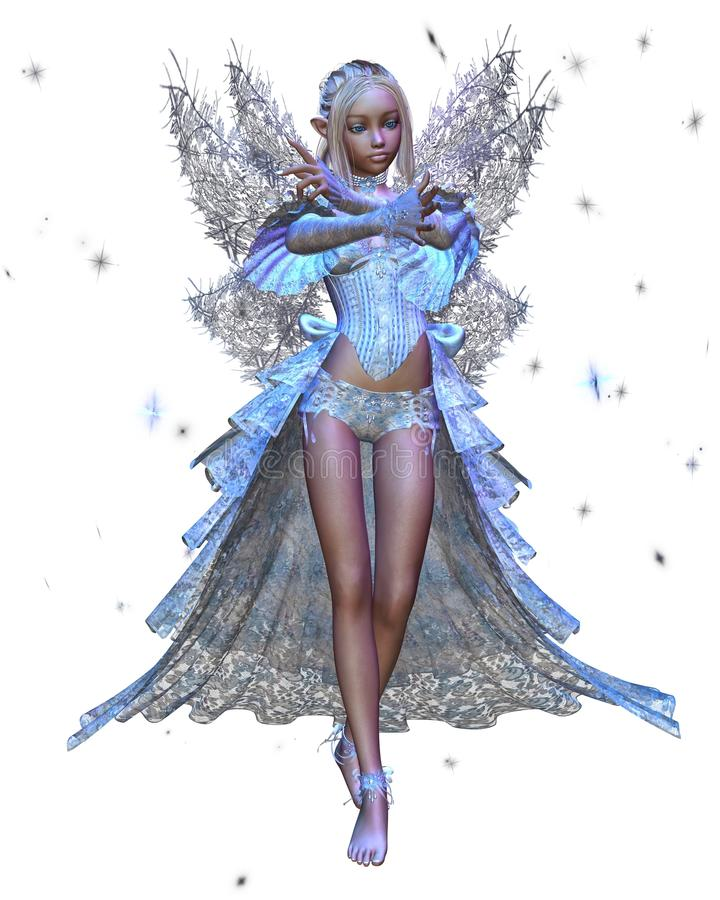 De Fee van het Ijs van de winter royalty-vrije illustratie