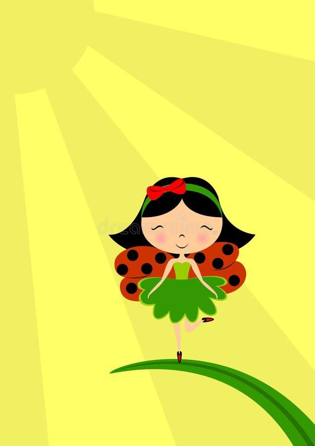 De fee van het lieveheersbeestje royalty-vrije illustratie