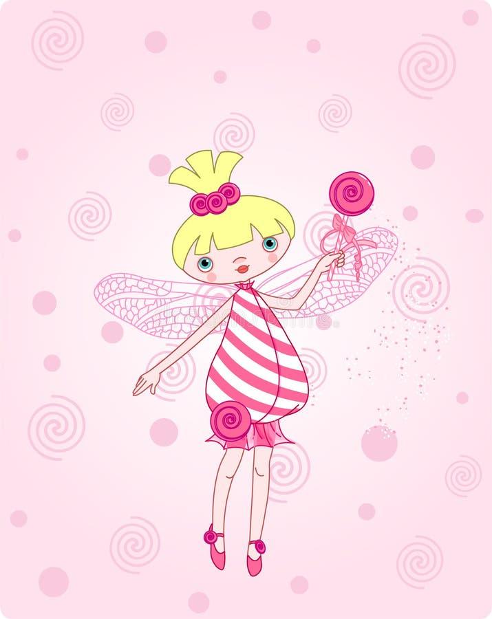 De fee van het suikergoed royalty-vrije illustratie