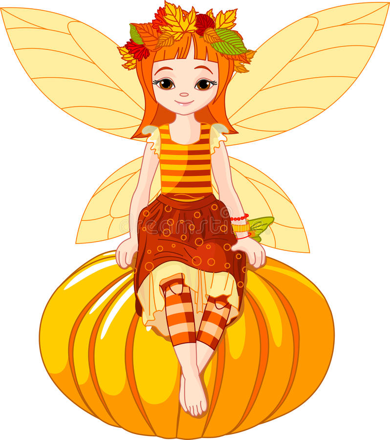 De feemeisje van de herfst vector illustratie