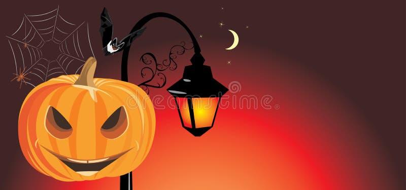 De feestelijke banner van Halloween vector illustratie