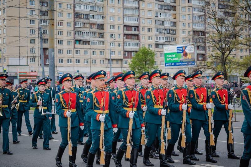 De feestelijke gebeurtenissen kunnen 8, 2019 in Nevsky-district van St. Petersburg, Rusland royalty-vrije stock foto