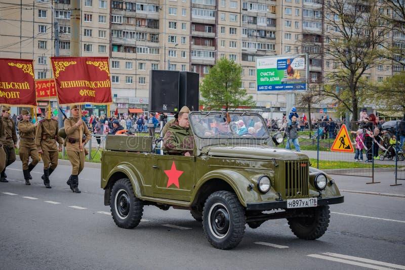 De feestelijke gebeurtenissen kunnen 8, 2019 in Nevsky-district van St. Petersburg, Rusland royalty-vrije stock foto's