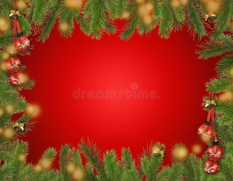 De felicitatiekaart van Kerstmis. stock illustratie