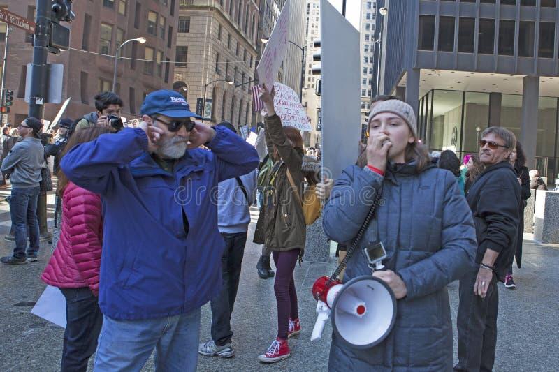 ` De femmes s mars sur Chicago 2017 photos libres de droits