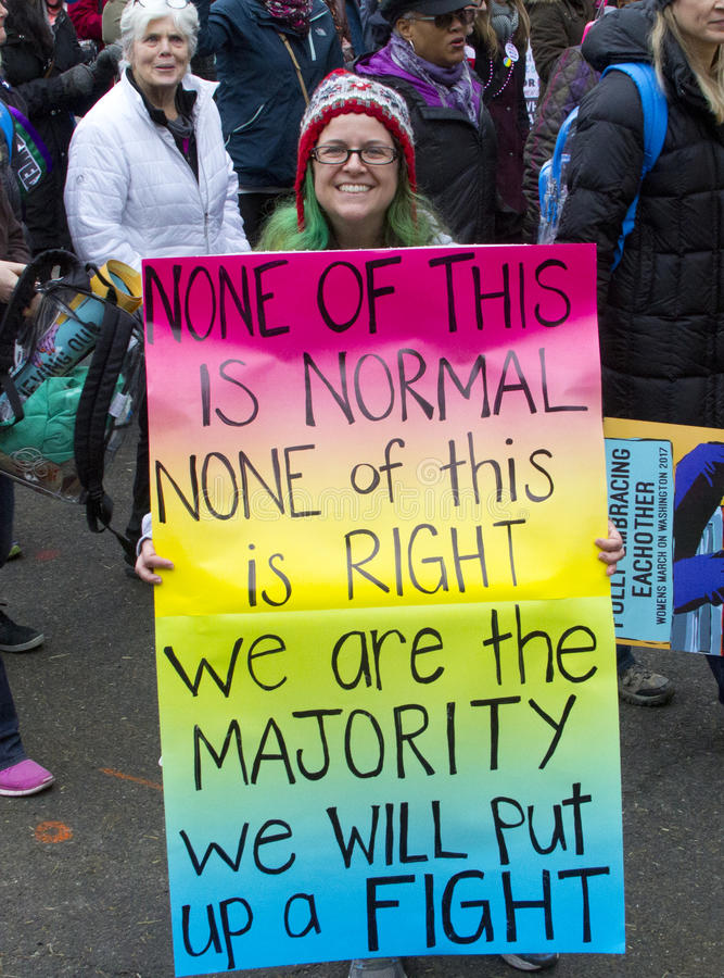 ` De femmes s mars sur Washington image libre de droits
