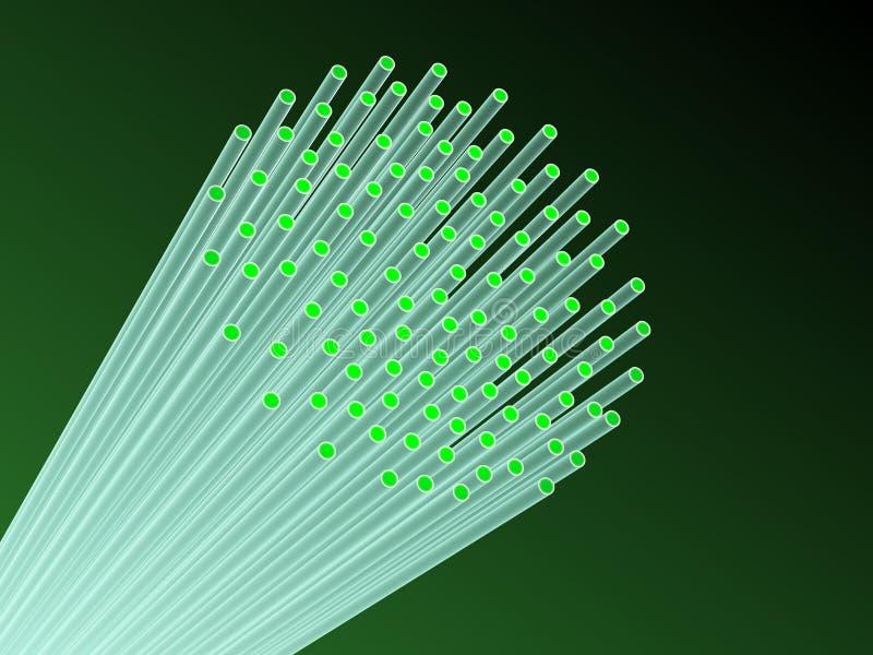 De fibra óptica. ilustração do vetor