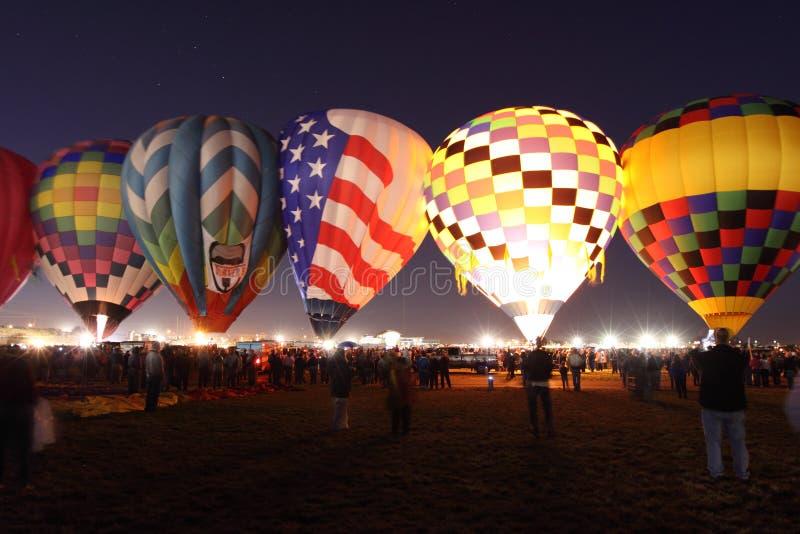 De Fiesta van de Ballon van Albuquerque stock fotografie