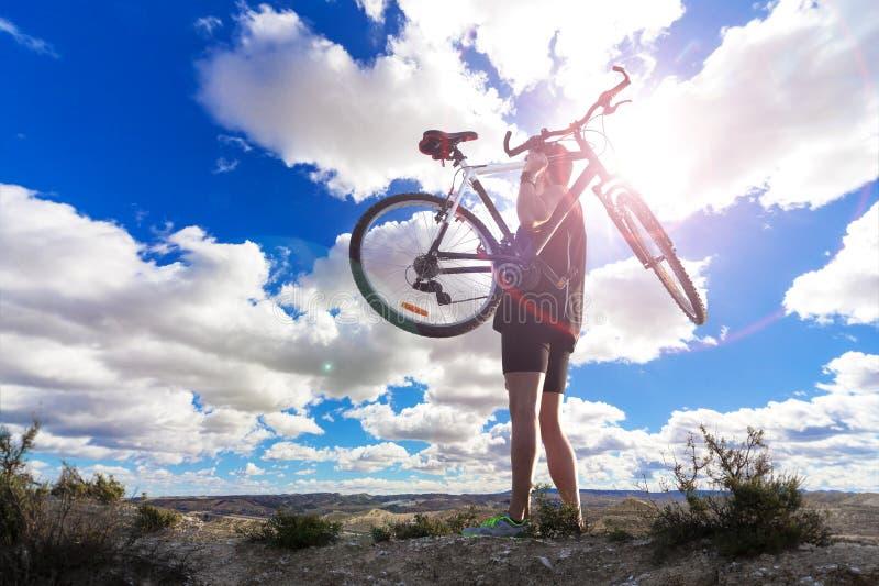 De fiets van de berg Sport en het gezonde leven royalty-vrije stock foto