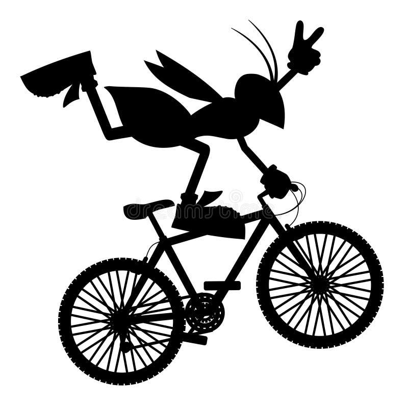De fiets van de sprong stock illustratie
