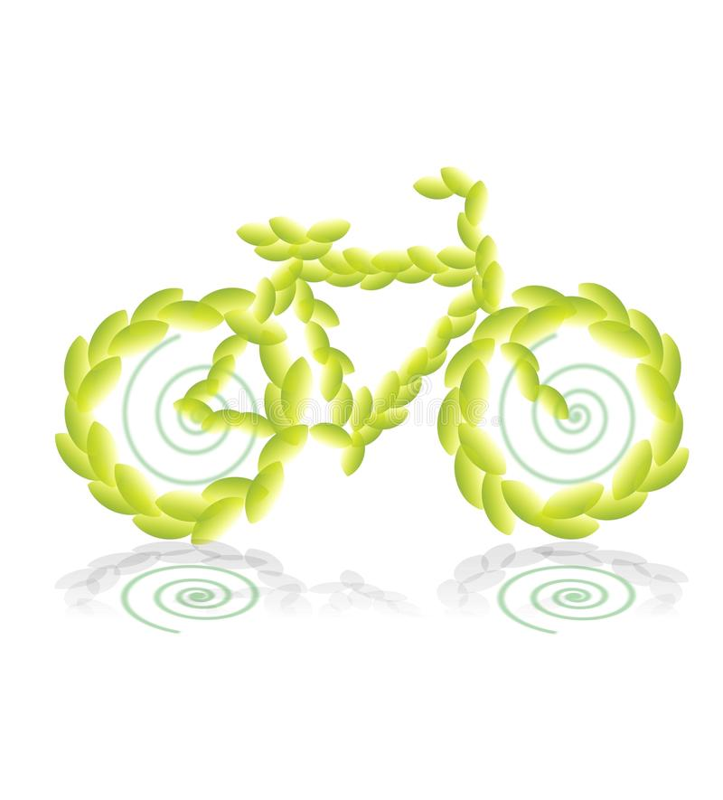 De fiets van het blad royalty-vrije illustratie
