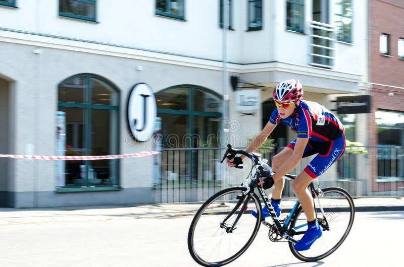 De fietsconcurrentie stock afbeelding