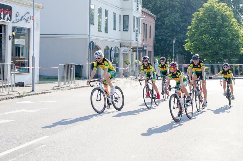 De fietsconcurrentie stock foto