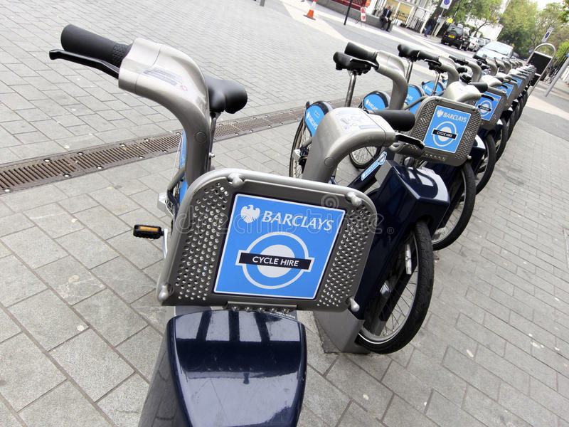 De fietsen van Barclays stock foto