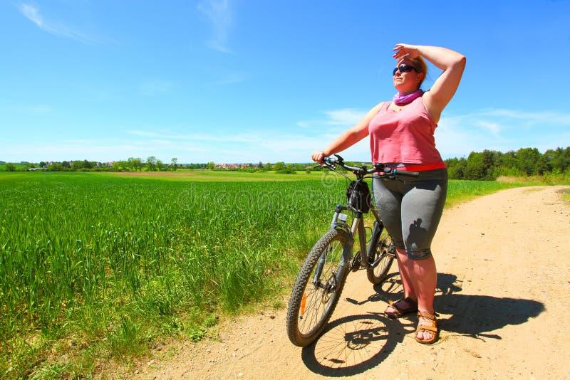 De fietser royalty-vrije stock afbeelding