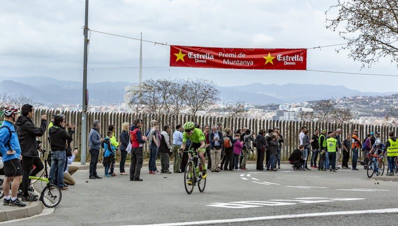 De Fietser Rigoberto Uran - Volta Ciclista een Catalunya 2016 royalty-vrije stock foto's