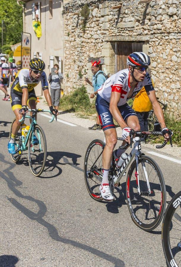 De Fietser Stef Clement op Mont Ventoux - Ronde van Frankrijk 2016 stock foto