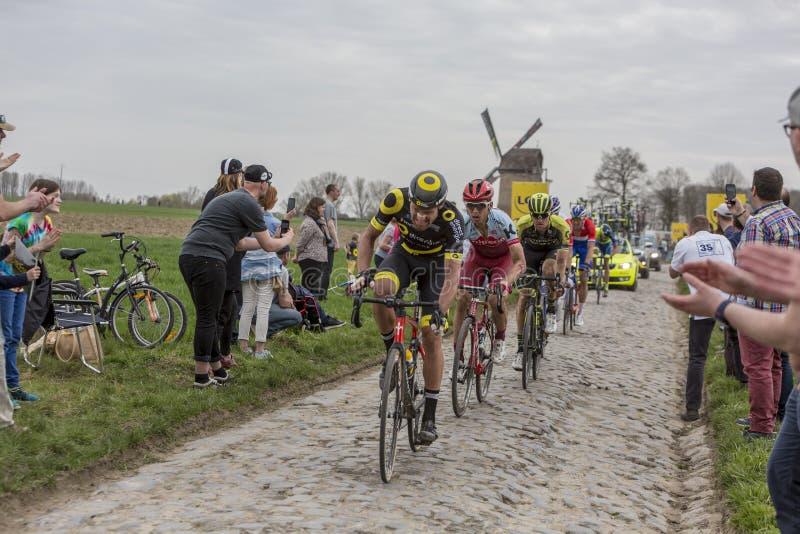 De Fietser Tony Martin - Parijs-Roubaix 2018 royalty-vrije stock foto's