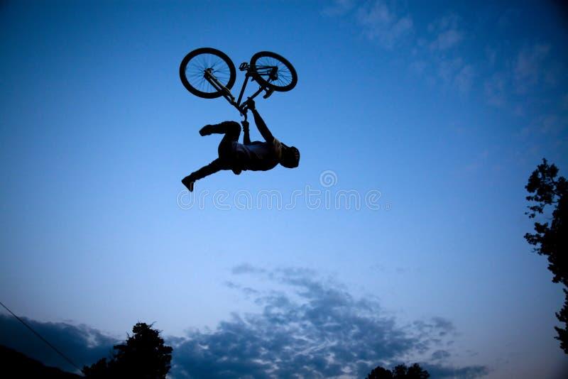 De fietser van Bmx stock foto's