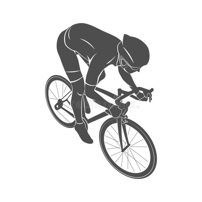 De fietser van de atletenfiets royalty-vrije illustratie