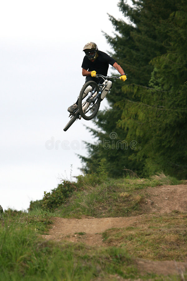 De fietsgezoem 27 van de berg stock fotografie