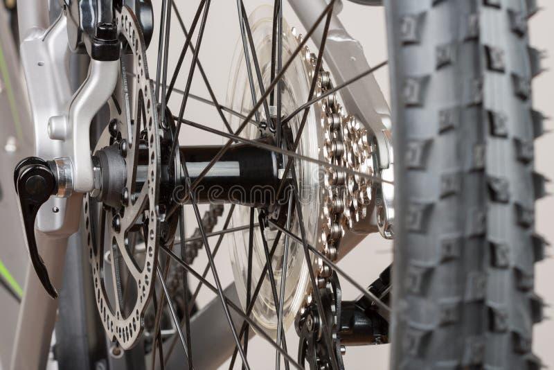 De fietshub van achterwiel, sluit omhoog mening, studiofoto royalty-vrije stock afbeeldingen