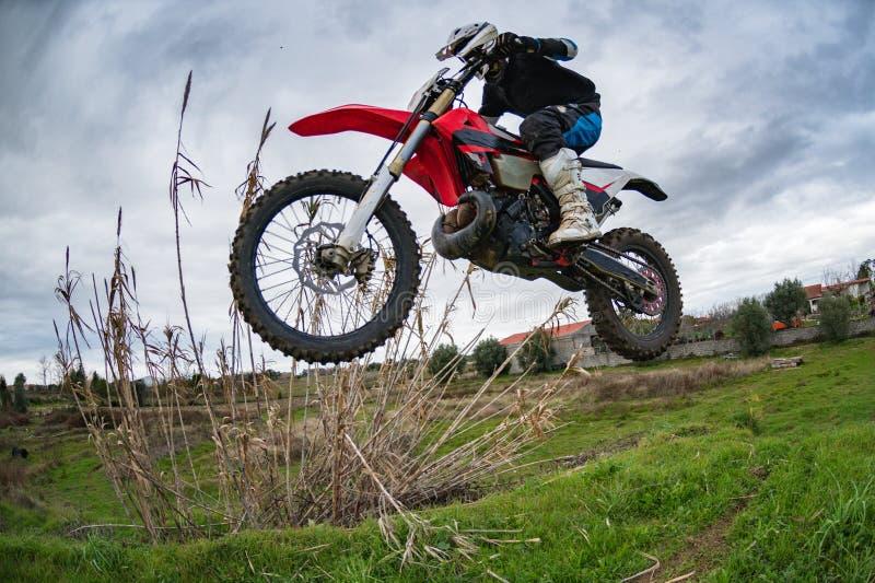 De fietsruiter van Enduro royalty-vrije stock foto