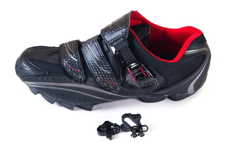 De fietsschoenen en cleat van de berg. royalty-vrije stock afbeelding