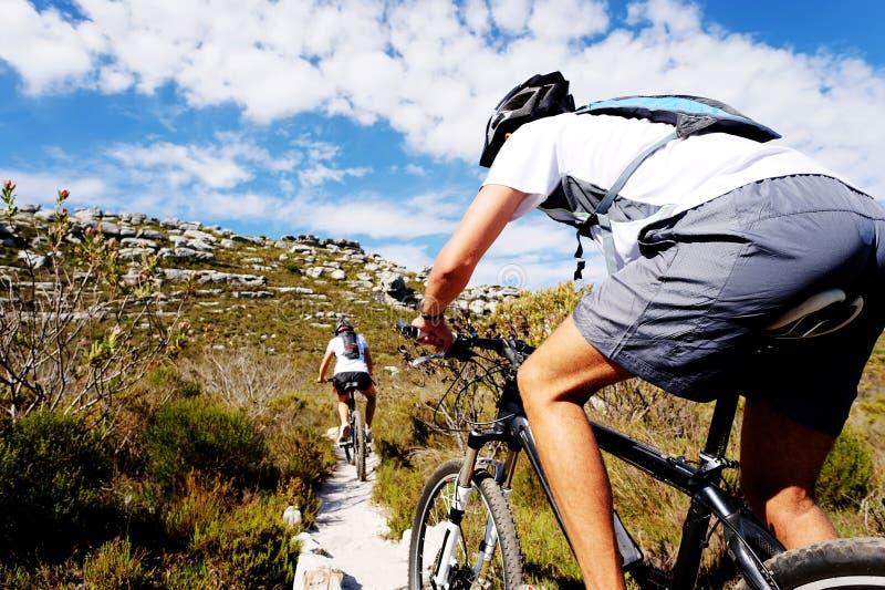 De fietssleep van de berg royalty-vrije stock foto