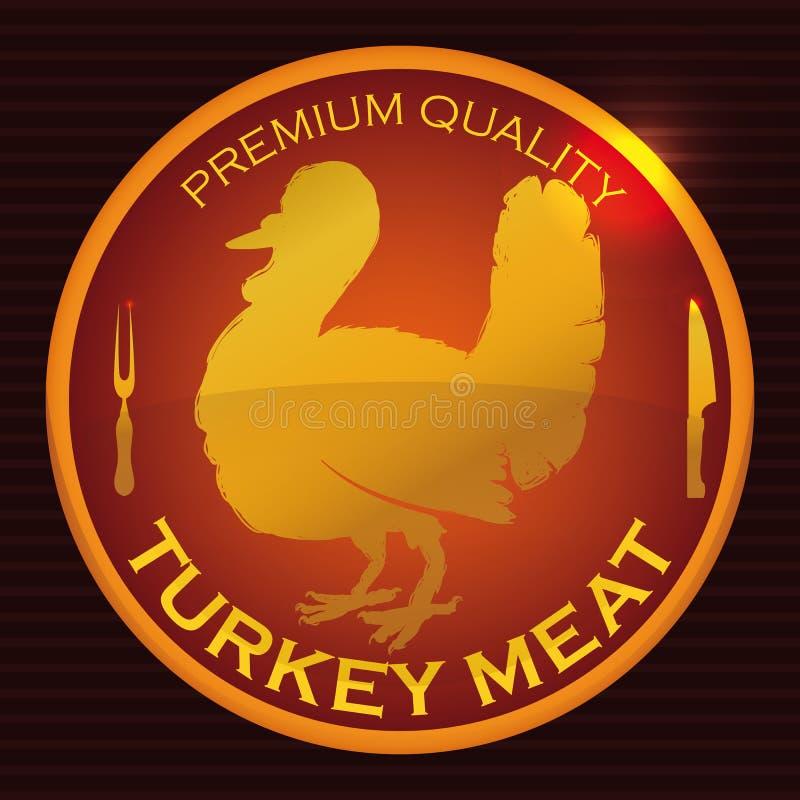 De fijne Dankzegging Turkije, Vectorillustratie van het Premiemerk stock illustratie