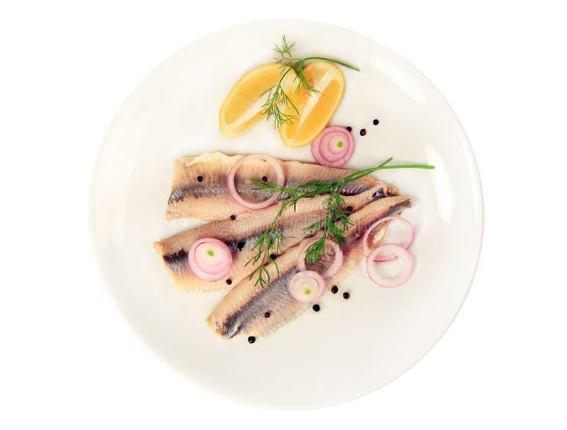 De filet van haringen stock afbeelding