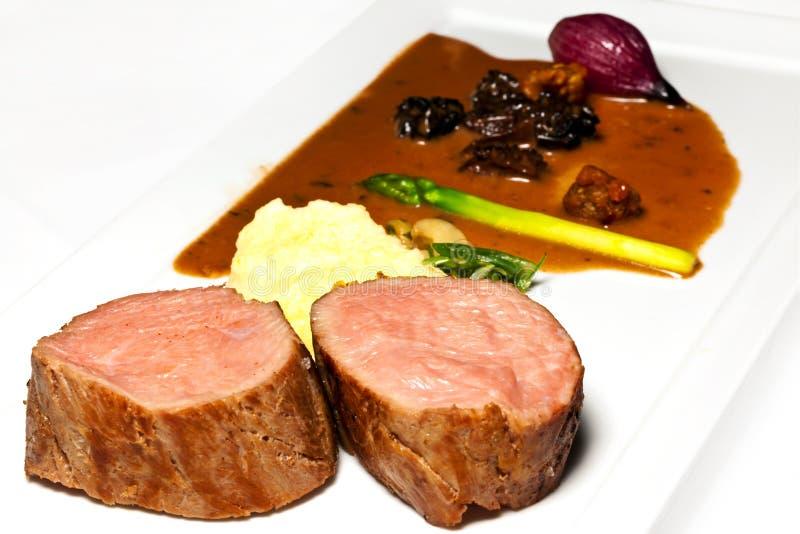 De filet van het kalfsvlees stock afbeelding