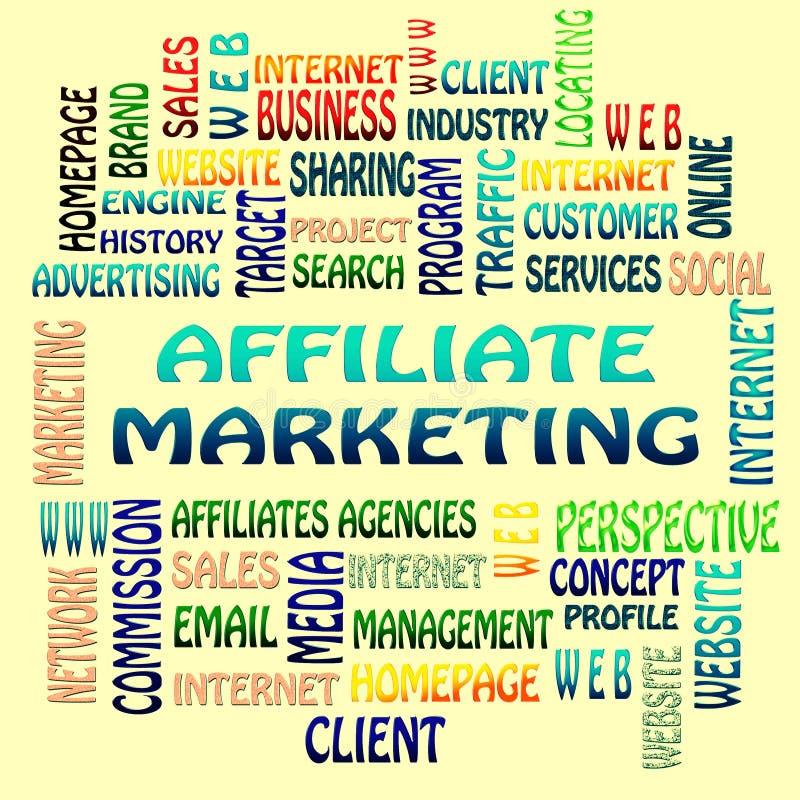 De Filiaal marketing woordwolk royalty-vrije illustratie
